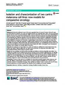 Isolation and characterization of two canine