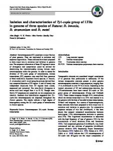 Isolation and characterization of Ty1-copia group of ... - Springer Link