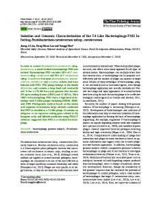 Isolation and Genomic Characterization of the T4-Like Bacteriophage ...