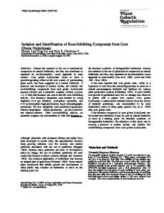 Isolation and Identification of Root-Inhibiting Compounds from Corn ...