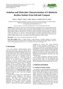 Isolation and Molecular Characterization of Cellulolytic Bacillus ...