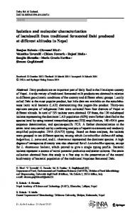 Isolation and molecular characterization of