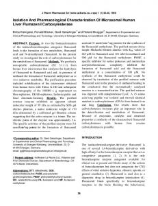 Isolation And Pharmacological Characterization ... - University of Alberta