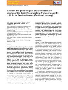 Isolation and physiological characterization of ... - Joel Kostka