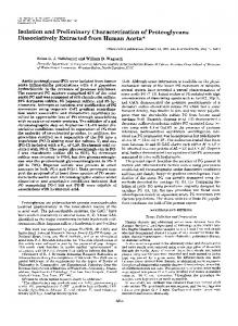 Isolation and Preliminary Characterization of Proteoglycans ...