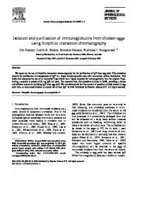 Isolation and purification of immunoglobulins from ...