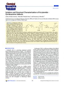 Isolation and Structural Characterization of ...