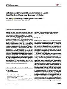 Isolation and Structural Characterization of Lignin from ... - CiteSeerX