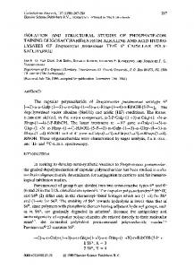 ISOLATION AND STRUCTURAL STUDIES OF PHOSPHATE-CON ...