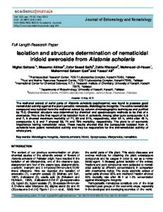 Isolation and structure determination of ... - Academic Journals
