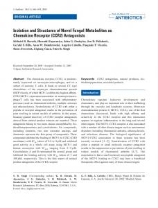 Isolation and Structures of Novel Fungal Metabolites as Chemokine ...