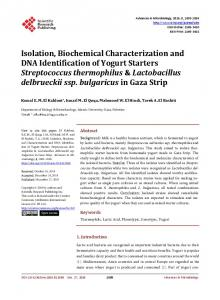 Isolation, Biochemical Characterization and DNA