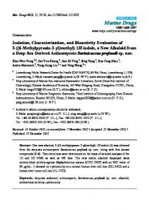 Isolation, Characterization, and Bioactivity Evaluation ... - BioMedSearch
