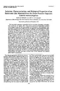 Isolation, Characterization, and Biological Properties of an Endotoxin ...