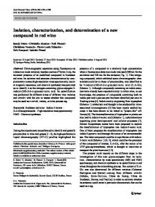 Isolation, characterization, and determination of a new ... - Springer Link