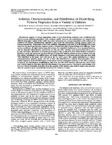 Isolation, Characterization, and Distribution of Denitrifying ... - CiteSeerX