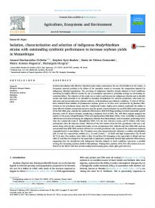 Isolation, characterization and selection of indigenous ...