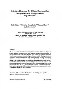 Isolation Concepts for Clique Enumeration - Algorithmics and ...