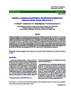 Isolation, evaluation and purification of