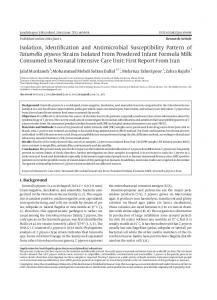Isolation, Identification and Antimicrobial Susceptibility Pattern of ...