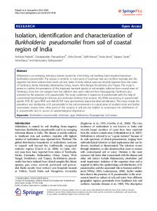 Isolation, identification and characterization of ... - BioMedSearch