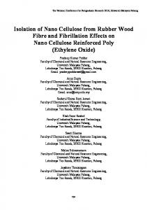 Isolation of Nano Cellulose from Rubber Wood Fibre ...