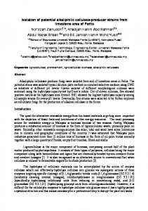 Isolation of potential alkaliphilic cellulase-producer ...