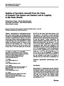 Isolation of Sporothrix schenckii From the Claws of ... - Springer Link