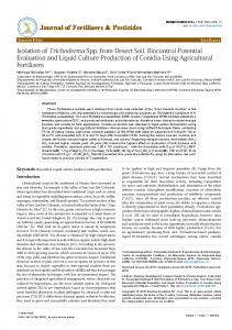 Isolation of Trichoderma Spp. from Desert Soil ... - OMICS International