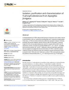 Isolation, purification and characterization of 5