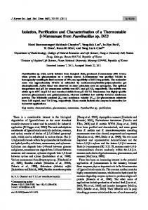 Isolation, Purification and Characterization of a ...