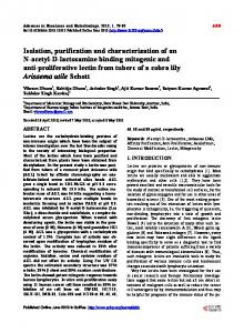 Isolation, purification and characterization of an N-acetyl-D ...