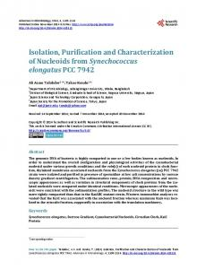 Isolation, Purification and Characterization of