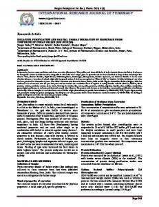 isolation, purification and partial characterization of urokinase from ...