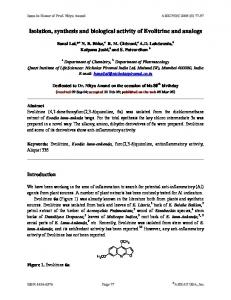 Isolation, synthesis and biological activity of Evolitrine and ... - Arkivoc