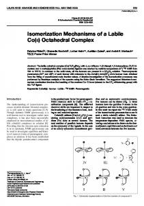 Isomerization Mechanisms of a Labile Co(II ... - IngentaConnect