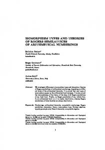 isomorphism types and theories of rogers semilattices of ... - Unisi