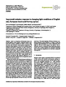 Isoprenoid emission response to changing light ... - Biogeosciences