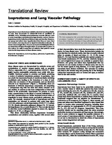 Isoprostanes and Lung Vascular Pathology - ATS Journals