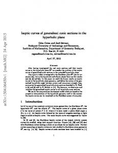 Isoptic curves of generalized conic sections in the hyperbolic plane