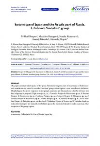 Isotomidae of Japan and the Asiatic part of Russia. I ... - ZooKeyswww.researchgate.net › publication › fulltext › Isotomida