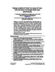 Isotope analysis of water by means of nearinfrared ... - Semantic Scholar