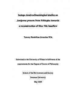 Isotope dendroclimatological studies on Juniperus ...