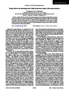 Isotope effect in the pseudogap state of high-temperature copper ...