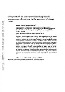 Isotope effect on the superconducting critical temperature of cuprates ...