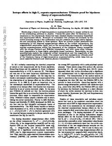 Isotope effects in high-Tc cuprate superconductors: Ultimate proof for ...