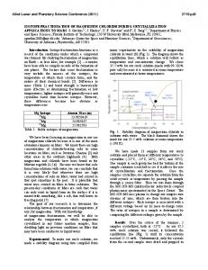 Isotope Fractionation of Magnesium Chloride During Crystallization