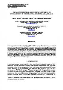 isotopic studies of groundwater-seawater interactions