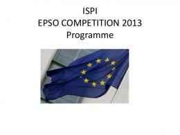 ISPI EPSO COMPETITION 2013 Programme