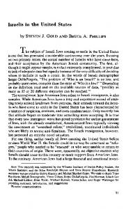 Israelis in the United States - Policy Archive